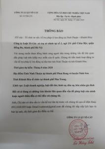 Tư vấn, hỗ trợ pháp lý tại Ninh Thuận – Khánh Hòa